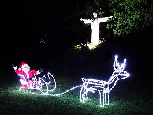 Led Weihnachtsbeleuchtung Ohne Kabel.Xxl Led Magic Rentier Schlitten Weihnachtsmann Deluxe Premium Set