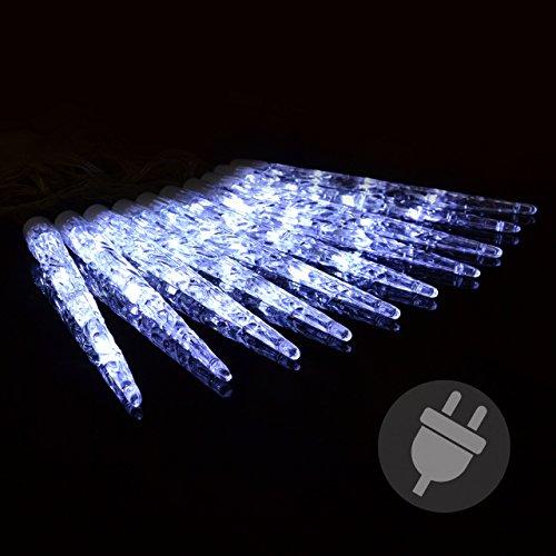 40er led eiszapfenkette lichterkette wei mit 8 funktionen. Black Bedroom Furniture Sets. Home Design Ideas